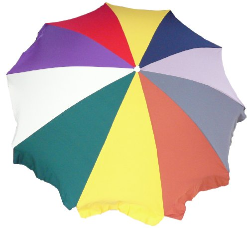 beo Regenbogen Dralon Sonnenschirm 240cm - Sombrilla para patio, color multicolor