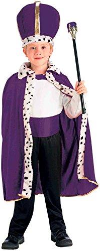 Kinder Kostüm König Robe & Krone Set (Kostüm Robe Krone König Und)