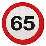 20 Servietten SIGNOS MOTIVO DE TRÁFICO 65 cumpleaños D: 15,5 cm