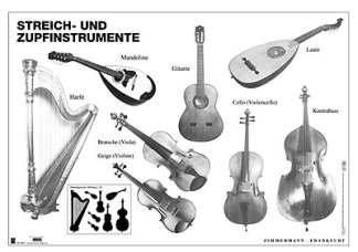 Streich- und Zupfinstrumente (Poster)