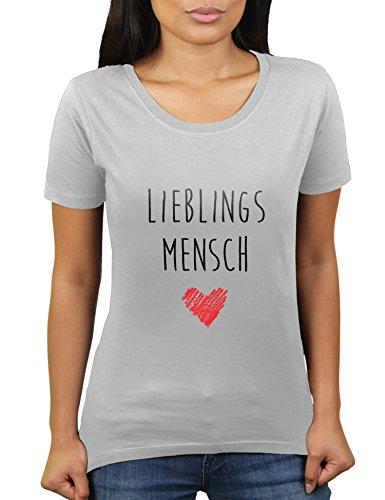 4 Light Post Oben (Likoli Lieblingsmensch - Geschenk Zum Geburtstag und Valentinstag - Damen T-Shirt von KaterLikoli, Gr. L, Light Gray)