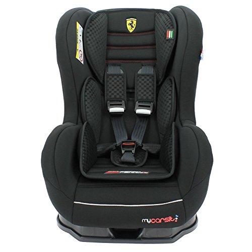 Mycarsit Siège Auto Isofix Ferrari, Groupe 1 (de 9 à18 kg), Noir