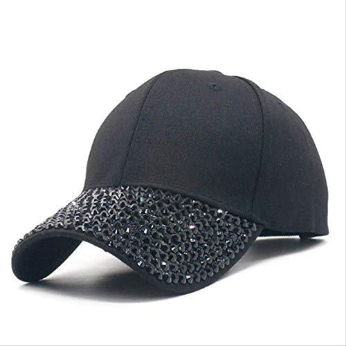 Für Kostüm Strass Erwachsene Cowgirl - GYFKK Hut Baseball Cap Mit Strass Cap Sommer Casual Mesh Sonne Visier Hut Verstellbarhip Hip Hop 56cm bis 60cm C20