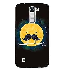 FUSON Valentine Tree Bird Moon 3D Hard Polycarbonate Designer Back Case Cover for LG K7 :: LG K7 Dual SIM :: LG K7 X210 X210DS MS330 :: LG Tribute 5 LS675