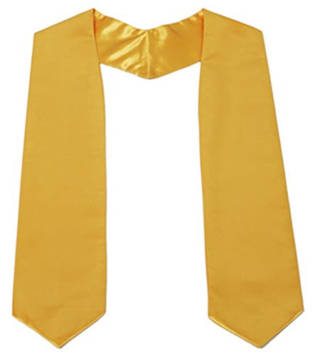 graduationmall adulte unisexe uni Graduation Stole 152,4 cm Long Doré
