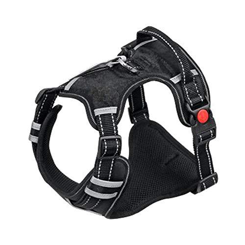LCPET Hundeautogeschirr Reflektierendes Haustierwestengeschirr mit verstellbarem Sicherheitsgurt Elastischer Gurt Atmungsaktive Stoffweste im Fahrzeug für Hunde,XL -