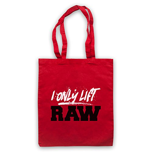 I Only Lift Raw Bodybuilding Culture Slogan Umhangetaschen Rot