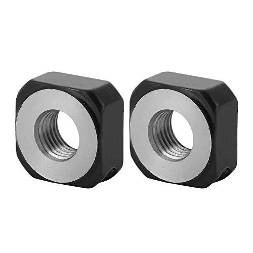 KEYREN Metall-Kontermuttern, 2-tlg. Hochpräzise integrierte Messingkissen-Metall-Kontermuttern für Kugelumlaufspindel M06x0,75mm