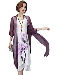 7858db72b Vestidos De Verano Elegante Línea Vestido Suelto hasta Una Lino Ropa  Festiva La Rodilla Moda Vintage Manga Corta…