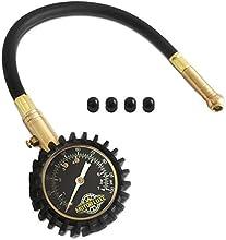 Motor Luxe Manómetro Medidor de Presión de Neumáticos 100 PSI / 7 Bar - Preciso Dial de Gran Resistencia para su Camión y Bicicleta - 4 Tapas de Válvula Gratis