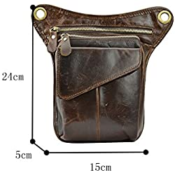 Genda 2Archer Genuine Leather Purse Exclusivo Mini Mensajero del Hombro Para Hombres