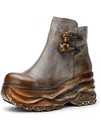 Sin Amazon Gris Y Para Botas Mujer es Zapatos 55rqFp