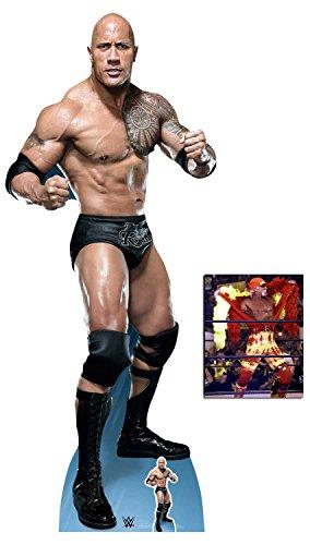 BundleZ-4-FanZ by Starstills The Rock Dwayne Johnson Kampfpose WWE Wrestler Lebensgrosse und klein Pappaufsteller mit 25cm x 20cm foto