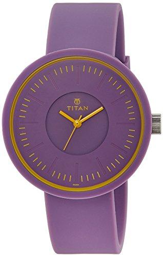 41eeZV0GKrL - Titan 9953PP03J Youth Purple Women watch