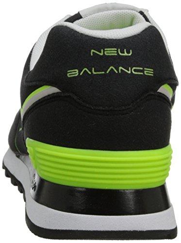 New Balance Ml574 D, Baskets mode homme Black/orange