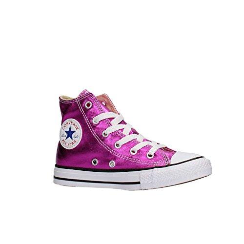 Converse 755556c Ct As Hi Toile, Sneaker Alta Bambina, Magenta Metallique (fucsia) Fuxia