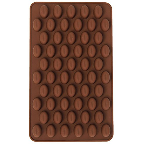 Uryoung Kuchenform 55 Mulden Schokolade Kaffee Bohnen Fondant Schokolade Backform Silikon Kekse...