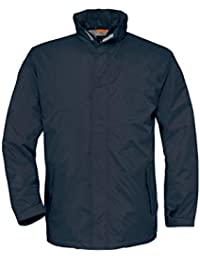B&C Collection Men's Ocean Shore Front Covered Full Zip Middle Weight Jackets S-3XL