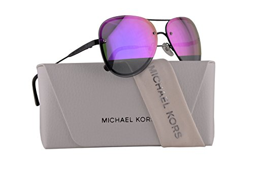 Michael Kors MK1026 La Jolla Sunglasses Black w/Block Fuchsia Mirror Lens 59mm 1169F1 MK 1026