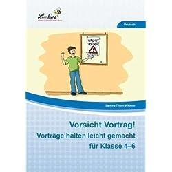 Vorsicht Vortrag! Vorträge halten leicht gemacht für Klasse 4-6 (CD-ROM): Grundschule, Deutsch, Klasse 4-6