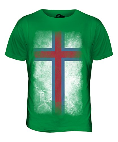 CandyMix Färöer Verblichen Flagge Herren T Shirt Grün