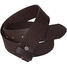 Fronhofer cinturón cambiable, 4c m, cuero auténtico, señores, señoras, cinturón cambiable negro, marrón, marrón oscuro, cinturón acortable con tuerca, 17532