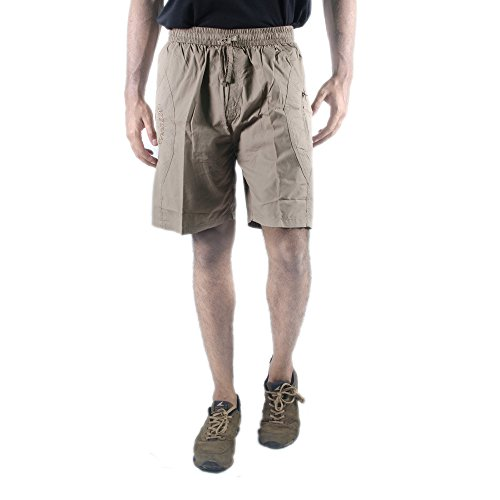 0-Degree Shorts Chinos Classic Cotton Bermuda for Men DarkBeige 30 (ShortsclassicsoloDarkBeige)