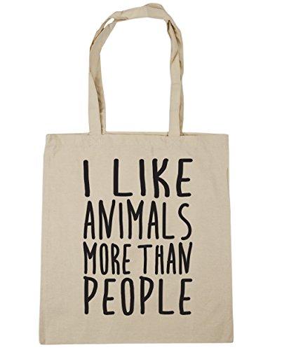 hippowarehouse-i-like-los-animales-mas-de-personas-bolsa-de-la-compra-bolsa-de-playa-42-cm-x38-cm-10