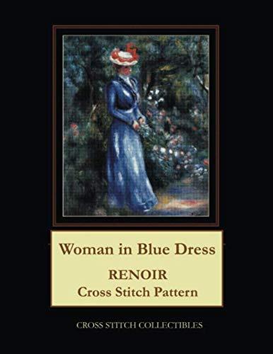 Woman in Blue Dress: Renoir Cross Stitch Pattern -