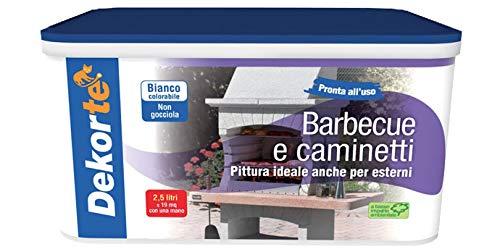 GDM-Barbecue E Caminetti, Pittura Al Quarzo Per Esterni, Dekortè, Colore: Bianco, 4 litri