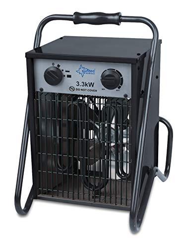 SUNTEC Industrie-Heizlüfter Heat Cannon 3300 [Für Räume bis 100 m³ (~42 m²) geeignet, 3 Leistungsstufen, 3300 Watt]