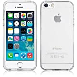 SDTEK Coque iPhone 5 / 5s / SE, iPhone 5 / 5s / SE Housse [TRANSPARENTE GEL] Silicone...