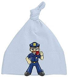 HARIZ Baby Mütze Knoten Polizist Cool Tasse Polizei Lustig Plus Geschenkkarte Himmel Hell Blau