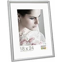 Superieur Deknudt Frames S011D1 Cadre Photo Résine Mat Argenté 50 X 75 Cm