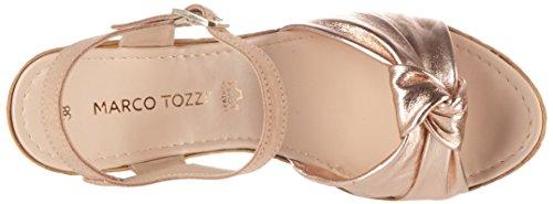 Prix marco Tozzi 28372, Sandales À Talons Compensés Femme Rose (rose Comb 596)