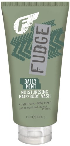 Fudge Daily Mint Hair & Body Wash, 1er Pack (1 x 350 ml) - Fudge Daily Mint