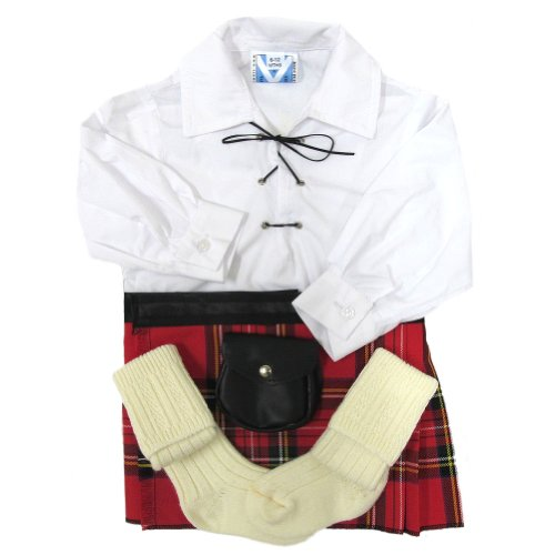 - im Royal Stewart-Tartanmuster - Baby - 12 - 24 Monate (Kinder Scottish Kostüm)