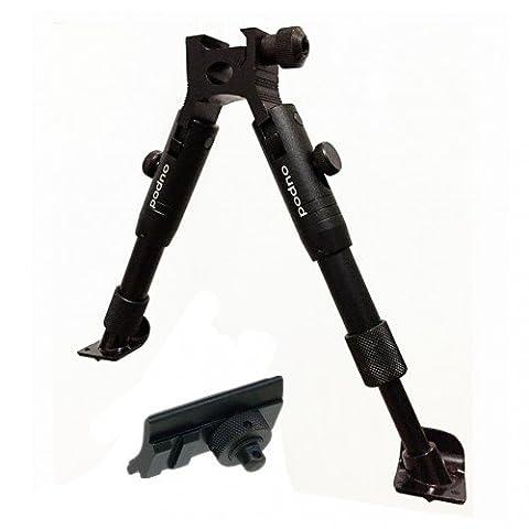 Drehelement Metall - Zweibein (Bipod) Gummi-Füße, Ausziehbar, Höhenverstellbar (23-28cm)