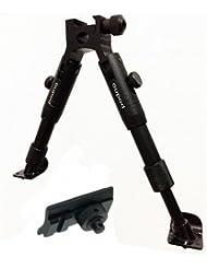 Muy agradable táctica de metal bípode, regulable en altura de 23 a 28 cm