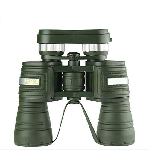 Télescope Jumelles Fort grossissement 10x50 Vision nocturne à faible niveau de lumière Grand oculaire Pêche, observation des oiseaux, observation des étoiles, concerts, alpinisme, cyclisme, camping, visites touristiques
