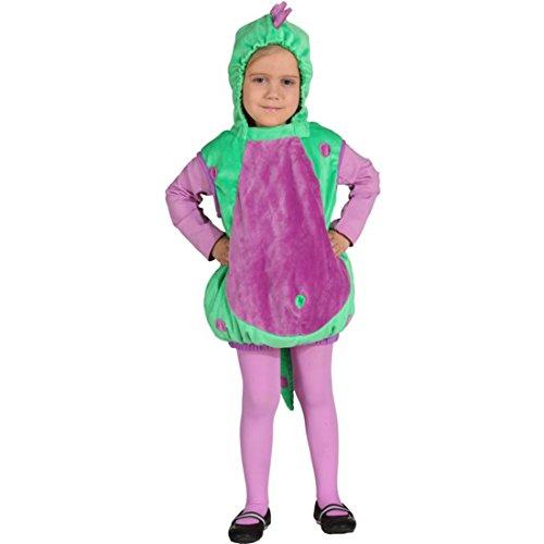 Amakando Dino Kinderkostüm Weste mit Kapuze Saurier Drachenkostüm Kleinkind Kinder Kapuzenweste Echse Karnevalskostüm Drache Dinosaurier Kostüm Kind