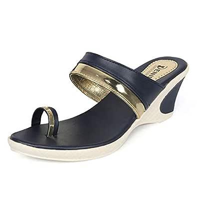 Denill Women and Girls Wedge Heel Toe Ring Sandal (Slip on Style)