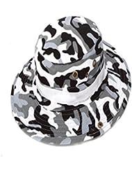 Sfit Chapeau de Soleil Chapeau de Pêche à Grand Bord Camouflage Réglable pour Camping Randonnée Activités en Plein Air