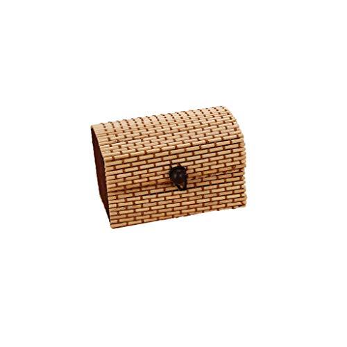 Tampons-box (Sulifor Einfache und große kapazität kreative Bambus Vorhang Holz schmuck Ring kleine schmuck aufbewahrungsbox Ohrringe schmuckschatulle schatzkasten)