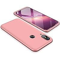 Huawei P20 lite Funda - BCIT Funda Huawei P20 lite 360 Grados Integral Para Ambas Caras + Cristal Templado, Luxury 3 in 1 PC Hard Skin Carcasa Case Cover para Huawei P20 lite (Rose Oro)