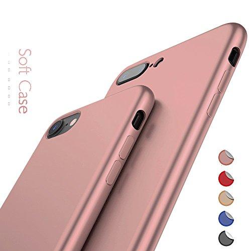 Rote Rosen Iphone ([ Apple iPhone 7, Rosé Gold ] NEW - Ultra Slim Case / Sehr dünne stabile Hülle / ( hochwertiger TPU-Bumper - fein matt - sehr leicht ) / Perfekter Schutz gegen Kratzer / Anti-Scratch Cover)