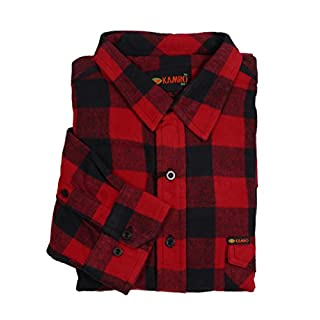KAMRO Holzfäller-Langarmhemd Übergröße 10XL, rot, Größe:8XL