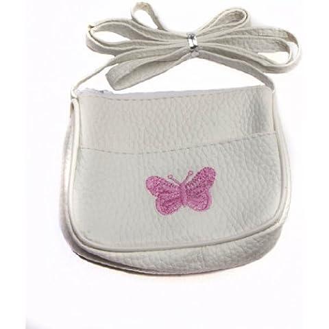 Niñas Butterfly Bordado Pequeño Bolso De Mano Y Hombro/Cartera - Ideal Bolsa Fiesta Rellenos para