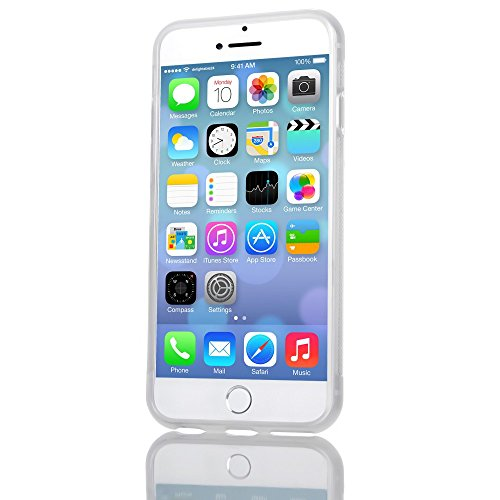 Apple iPhone 6 6S Coque Protection de NICA, Housse Silicone Portable Mince Souple, Tele-Phone Case Anti-Derapante Cover Premium, Incassable Ultra-Fine Resistante Bumper Etui pour ip-6 6S - Gris Transparent