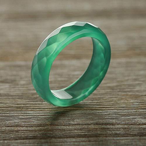 Zhiming Grüne Jade Mark Achat männliche und Weibliche Form Ring